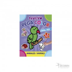 Libro Pega Color Animales
